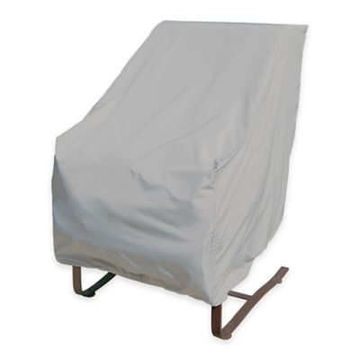 SimplyShade Polyester Protective High Back Chair Cover in White