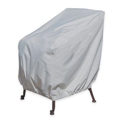 SimplyShade Polyester Protective Lounge Chair Cover in White