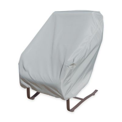 SimplyShade Polyester Protective Rocking Chair Cover in White