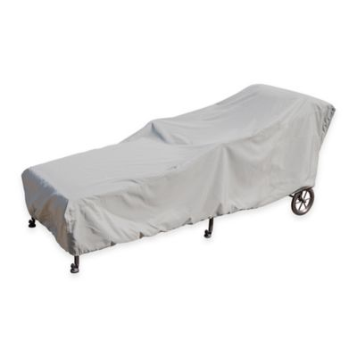 SimplyShade Polyester Small Protective Chaise Lounge Cover in White