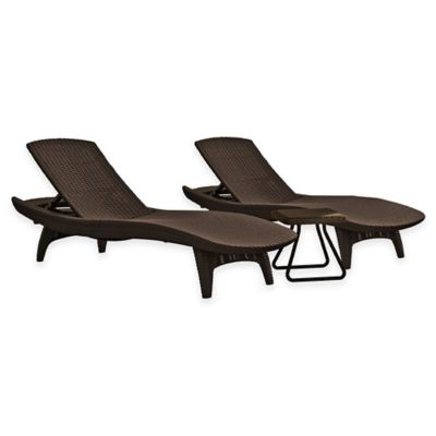 Keter® Pacific Sun 3-Piece Lounger Set in Grey