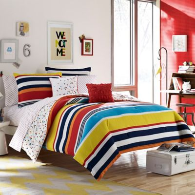 Teen Vogue® Dots and Dashes 2-Piece Reversible Twin Comforter Set