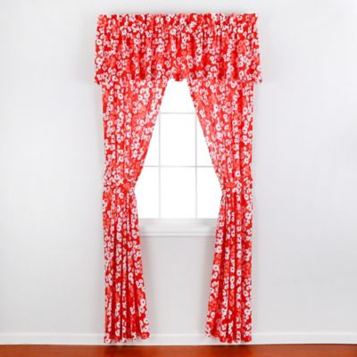 Teen Vogue® Daisies Window Valance in Red