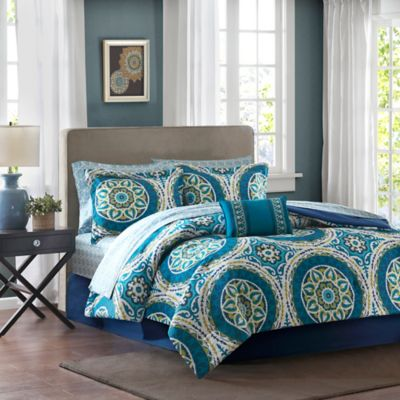 Madison Park Essentials Serenity 9-Piece King Comforter Set in Blue