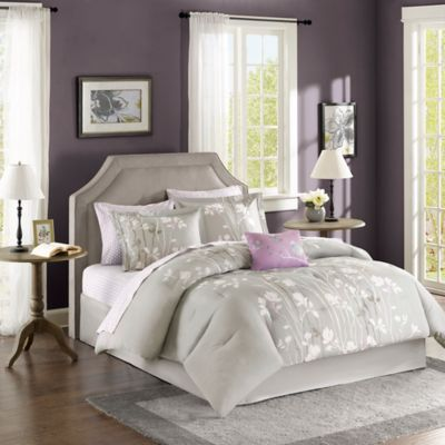 Madison Park Essentials Vaughn 9-Piece Queen Comforter Set in Grey