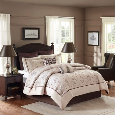 Madison Park Signature Katarina King Comforter Set in Ivory