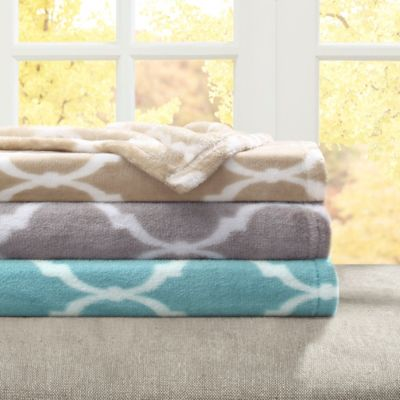 Madison Park Ogee Oversized Throw Blankets