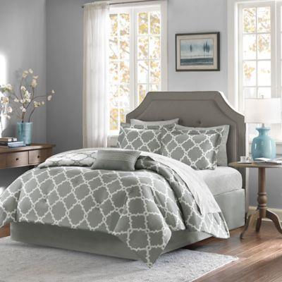 Madison Park Essentials Merritt 9-Piece Reversible California King Comforter Set in Grey