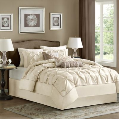 Blue Beige Comforter Set