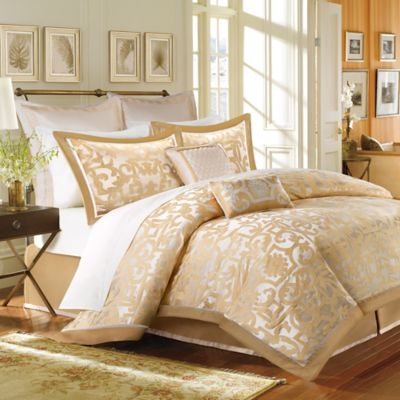 Madison Park Castello 8-Piece King Comforter Set in Gold