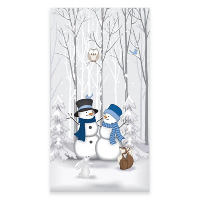 Winter Friends 20-Count Decorative Guest Towels in Blue