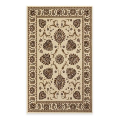 Couristan® Everest Leila 5-Foot 3-Inch x 7-Foot 6-Inch Area Rug in Brown