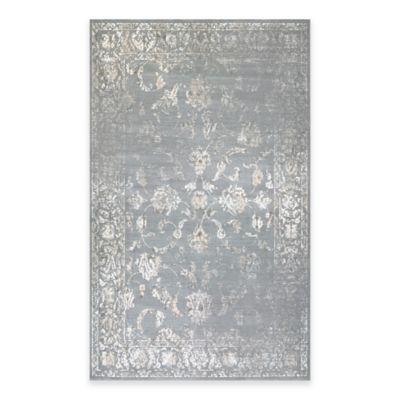 Couristan® Provincia Botanic Applique 3-Foot 11-Inch x 5-Foot 3-Inch Area Rug in Grey/Cream
