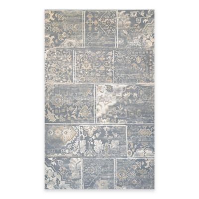 Couristan® Provincia Leilani 5-Foot 3-Inch x 7-Foot 6-Inch Area Rug in Grey/Cream
