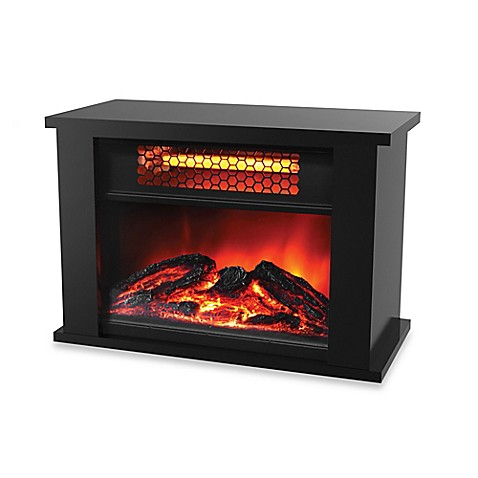 buy lifezone electric infrared fireplace heater from bed