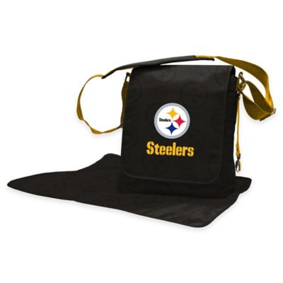 Lil Fan Pittsburgh Steelers Messenger Diaper Bag