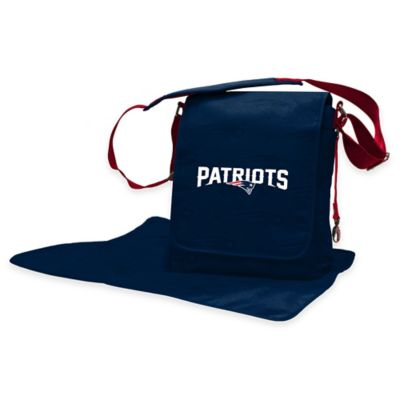Lil Fan New England Patriots Messenger Diaper Bag