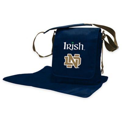 Lil Fan University of Notre Dame Messenger Diaper Bag