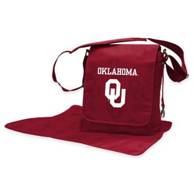 Lil Fan University of Oklahoma Messenger Diaper Bag