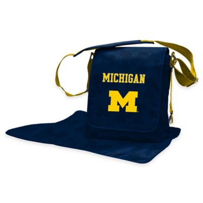 Lil Fan University of Michigan Messenger Diaper Bag