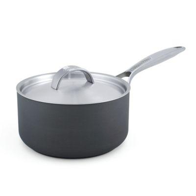 GreenPan™ Paris 2 qt. Hard Anodized Nonstick Covered Saucepan in Grey