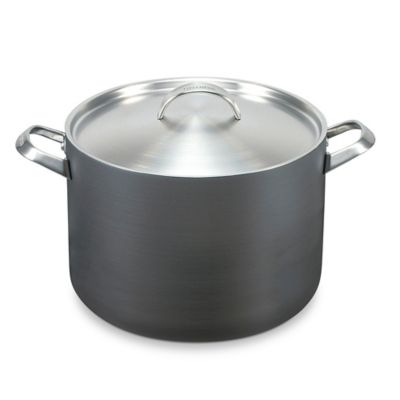 GreenPan™ Paris 8 qt. Hard Anodized Nonstick Covered Stock Pot in Grey