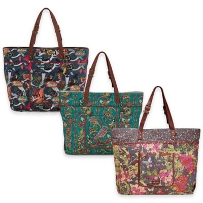 Sakroots Artist Circle Travel Bag in Slate Flower Power
