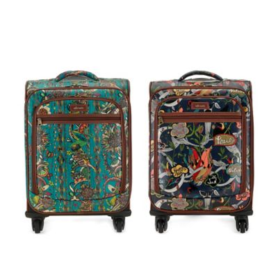 Sakroots Artist Circle 21-Inch 4-Wheel Carry-On Spinner in Teal Spirit Desert