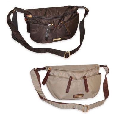 Adrienne Vittadini Nylon Crossbody Bag in Brown