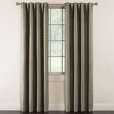 Milo 63-Inch Rod Pocket Lined Window Curtain Panel in Grey