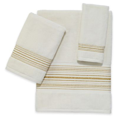 Avanti Lurex Bath Towel in Ivory