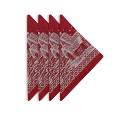 Christmas Story Napkins in Red (Set of 4)
