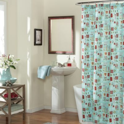 Noel Holiday Fabric Shower Curtain