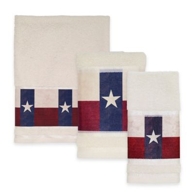 Avanti Texas State Flag Bath Towel in Red/White/Blue