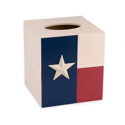 Avanti Texas State Flag Tissue Cover in Red/White/Blue