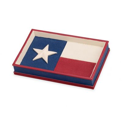 Avanti Texas State Flag Soap Dish in Red/White/Blue