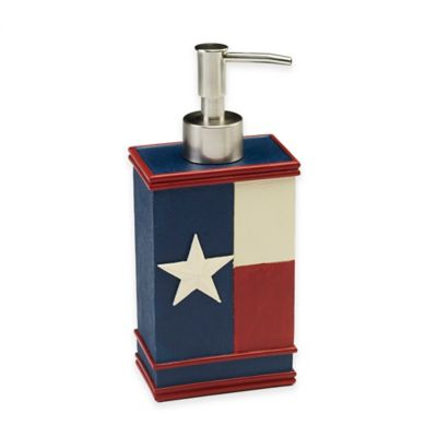 Avanti Texas State Flag Lotion Dispenser in Red/White/Blue