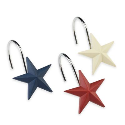 Avanti Texas State Flag Shower Curtain Hooks (Set of 12)