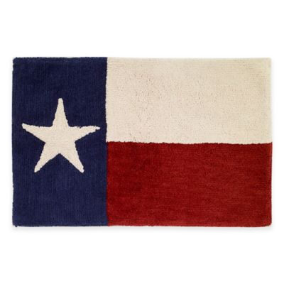 Avanti Texas State Flag Bath Rug in Red/White/Blue