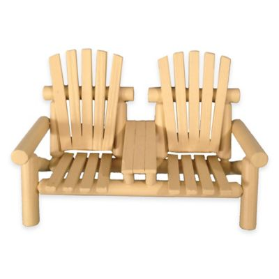 Adirondack Lodge Bench in Tan