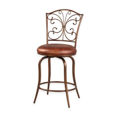 Butterfly Back 24-Inch Counter Stool in Antique Gold