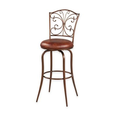 Butterfly Back 30-Inch Barstool in Antique Gold