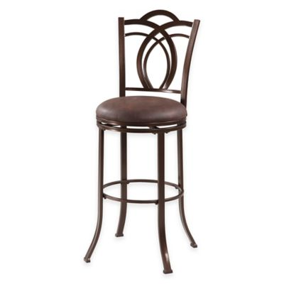 Calif Metal Swiveling 24-Inch Counter Stool in Coffee Brown