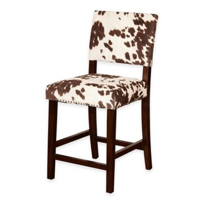 Corey Udder Madness 24-Inch Counter Stool in Brown/White