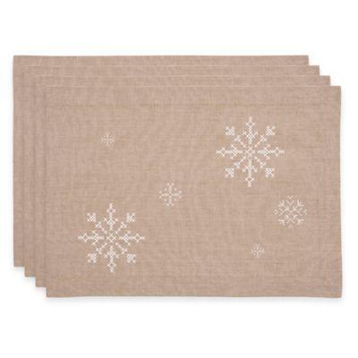 Snowflake Placemats (Set of 4)