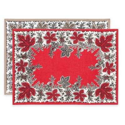 Red Linen Placemat