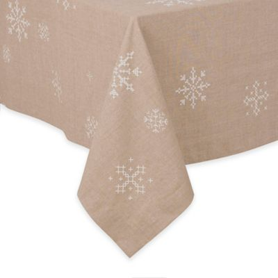 70-Inch x 70-Inch Snowflake Tablecloth