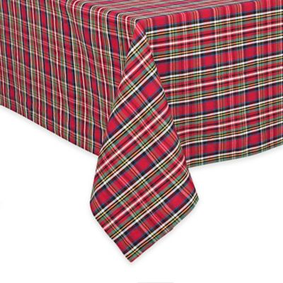 Multi Plaid Tablecloth