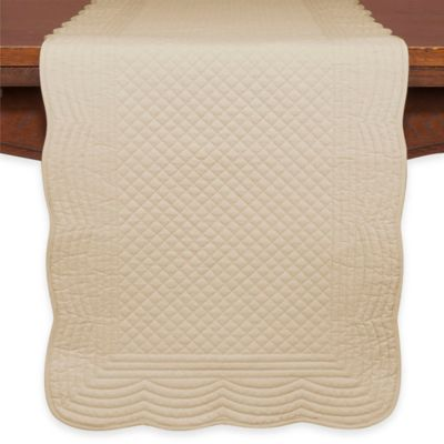 KAF Home Boutis 72-Inch Table Runner in Flax