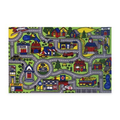 Fun Rugs™ Driving Time 3-Foot 3-Inch x 4-Foot 10-Inch Area Rug